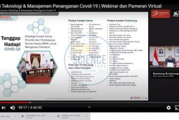 Berlangsungnya Webinar dan Pameran Virtual Ristek-BRIN UGM